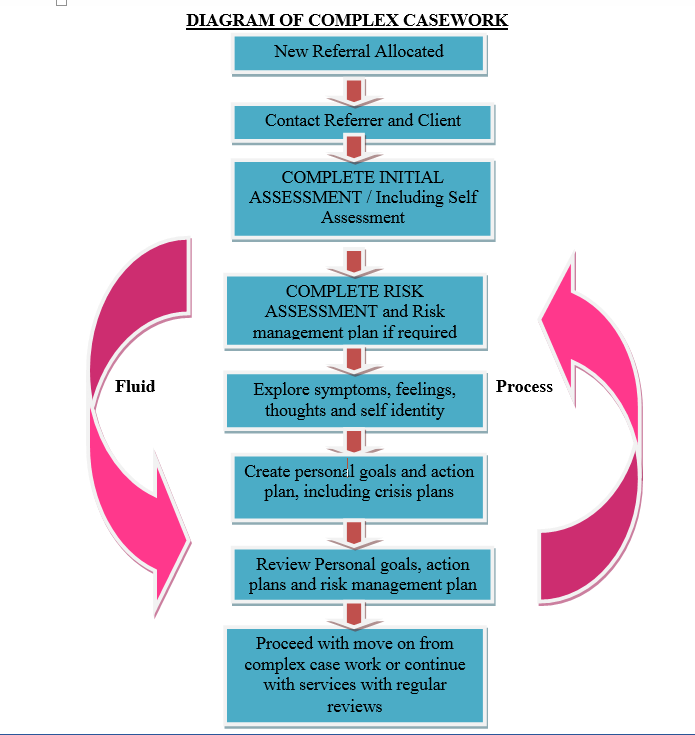 social work complex cases diagrame